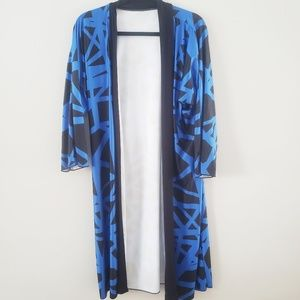 Lions and Tigers Apparel Blue and Black Kimono